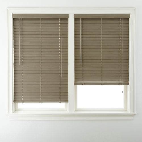 JCPenney Home™ 2 Wood Tone Faux-Wood Horizontal Blinds