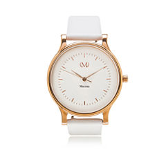 Martian Womens mVip CL 01 White Leather Band Smart Watch-Mps01cl015