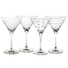 Mikasa® Cheers Set of 4 Martini Glasses