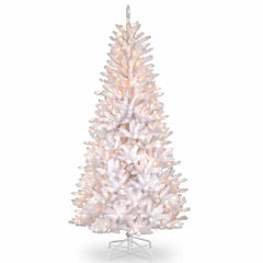 National Tree Co. 7 1/2 Foot Dunhill Slim Iridescent Fir Pre-Lit Christmas Tree