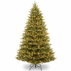 National Tree Co. 7 1/2 Foot Normandy Fir Hinged Pre-Lit Christmas Tree