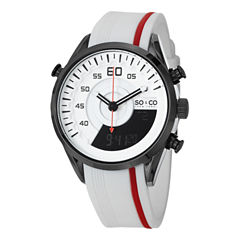 So & Co Mens Two Tone Strap Watch-Jp15197