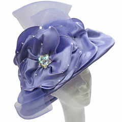 Whittall & Shon Derby Hat Lg Brim W Embroidered Crown And Edge