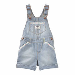 Oshkosh Denim Print Shortalls - Baby