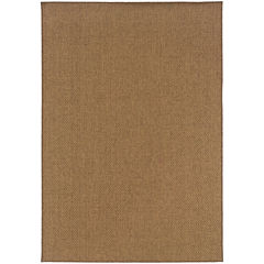 Covington Home Isla Basketweave Rectangular Rug
