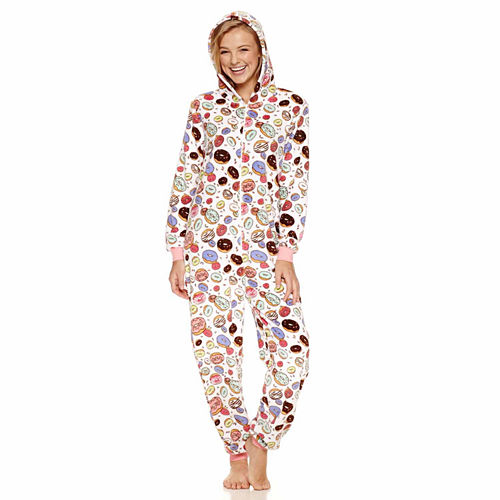 Donuts Long Sleeve One Piece Pajama