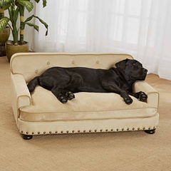 Enchanted Home Ultra Plush Library Pet Sofa in Caramel