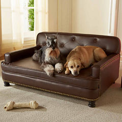 Enchanted Home Library Pet Sofa in Pebble Brown