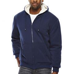 Sherpa-Lined Hoodie Jacket