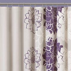 Madison Park Bridgette Floral Shower Curtain