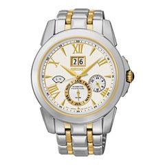 Seiko® Mens Kinetic Perpetual Two-Tone Watch SNP066