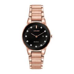 Citizen® Eco-Drive® Axiom Womens Diamond-Accent Bracelet Watch GA1058-59Q