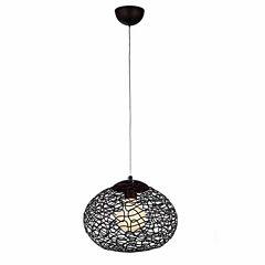 Warehouse Of Tiffany Aaliyah 1-light Chrome 12-inch Glass Pendant Lamp