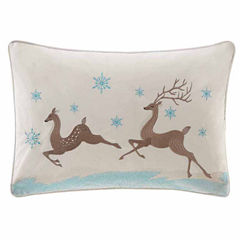 Madison Park Winter Prancers Oblong Throw Pillow