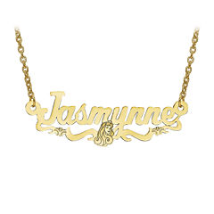 Disney Personalized Sleeping Beauty 14x36mm Name Necklace