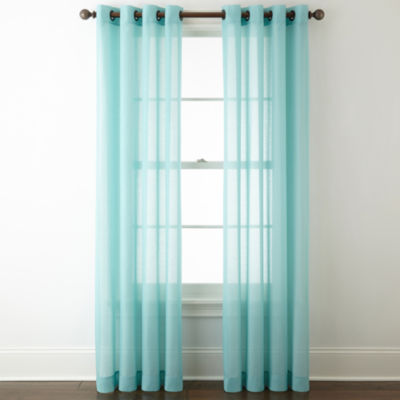 jcpenney home batiste grommettop sheer curtain panel