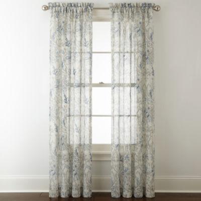 royal velvet cholet rodpocket sheer curtain panel - Sheer Drapes