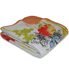 Greenland Home Fashions Watercolor Dream Quilted Cotton Throw