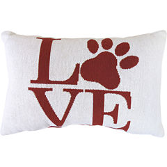 Park B. Smith® Love Paw Print Tapestry Decorative Pillow