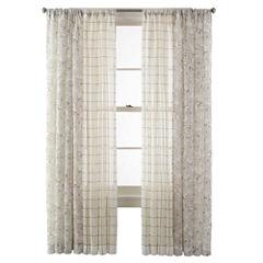 CLOSEOUT! MarthaWindow™ Windowpane or Mum Blossoms Window Treatments