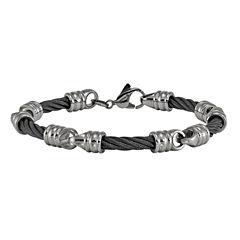 Edward Mirell Mens 8 Inch Titanium Chain Bracelet