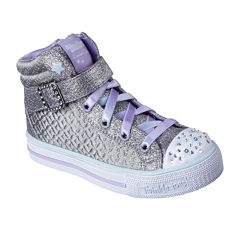 Skechers Twinkle Toes Shuffles Girls Sneakers - Little Kids