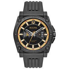 Bulova Mens Black Strap Watch-98b294