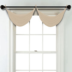 JCPenney Home Matte Satin Grommet Blackout Lined Waterfall Valance