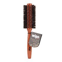 Wigo Wood Collection 100% Boar Medium Round Brush