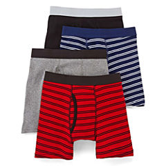 Arizona 4-pk. Striped Boxer Briefs – Boys & Husky 4-20
