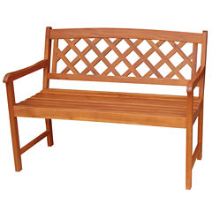 International Concepts X Back Patio Bench