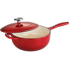 Tramontina® Gourmet 3-qt. Enameled Cast Iron Covered Saucier