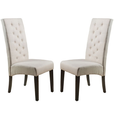 Eben Set Of 2 Tufted Upholstered Dining Chairs