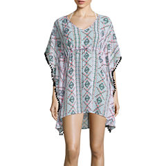 Arizona Pattern Chiffon Swimsuit Cover-Up Dress-Juniors