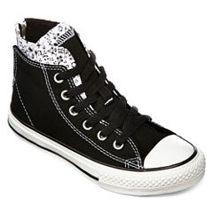 Converse Chuck Taylor All Star Girls Zip High-Top Sneakers - Little Kids/Big Kid