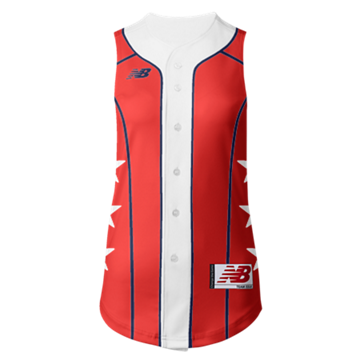 Prowess Sublimated Jersey Full Button Sleeveless 308