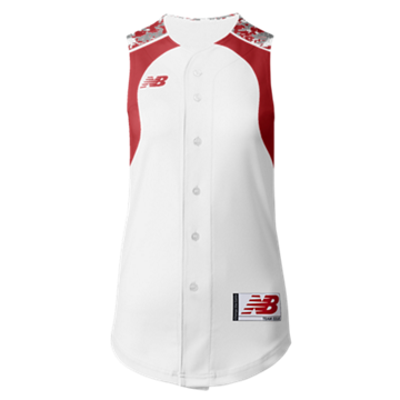 Prowess Sublimated Jersey Full Button Sleeveless 306