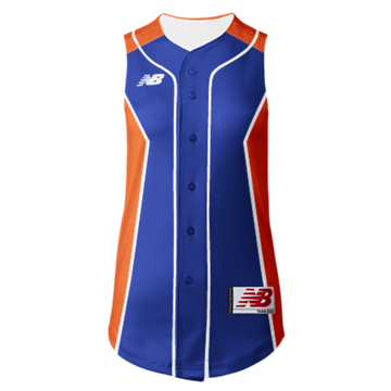 Prowess Sublimated Jersey Full Button Sleeveless 301