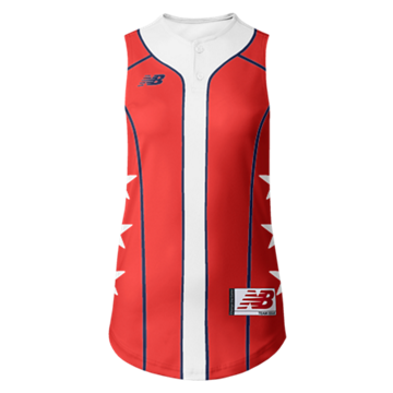 Prowess Sublimated Jersey 2 Button Sleeveless 308